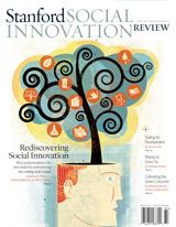 Capa da revista Social Innovation. A imagem traz uma árvore saindo da cabeça de uma figura humana,