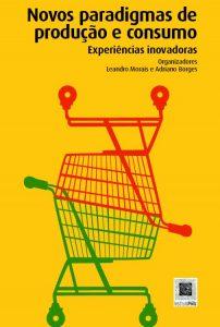 Capa do livro com fundo amarelo e dois carrinhos de compras entrelaçados, estando um de cabeça para cima e um de cabeça para baixo