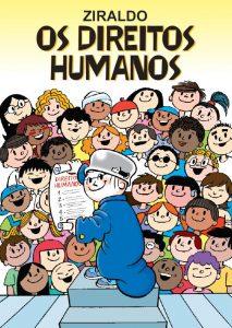 Capa do livro com desenhos de crianças de diferentes características físicas com o menino maluquinho à frente segurando um documento em suas mãos.