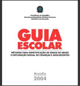 Capa do livro em que se lê em letras grandes e vermelhas: Guia Escolar