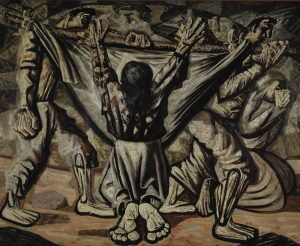 Capa do livro em que se vê uma pintura de escravos trabalhando com um homem ajoelhado ao centro com as mãos levantadas