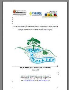 Capa: Curso de Formação de Artesãos e de Artefatos em Madeira - Manual Pedagógico do Aluno