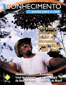 Capa: Revista Conhecimento - Ponte para a vida - ano 1