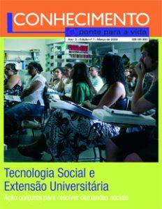 Capa:Revista Conhecimento -Ponte para a Vida - ano2 - n7
